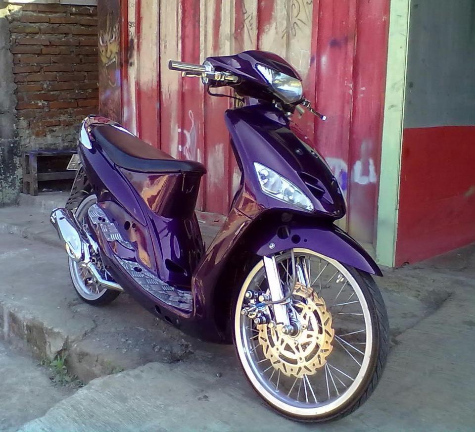 Modifikasi Motor Mio J Warna Ungu Motor, Ungu, Warna