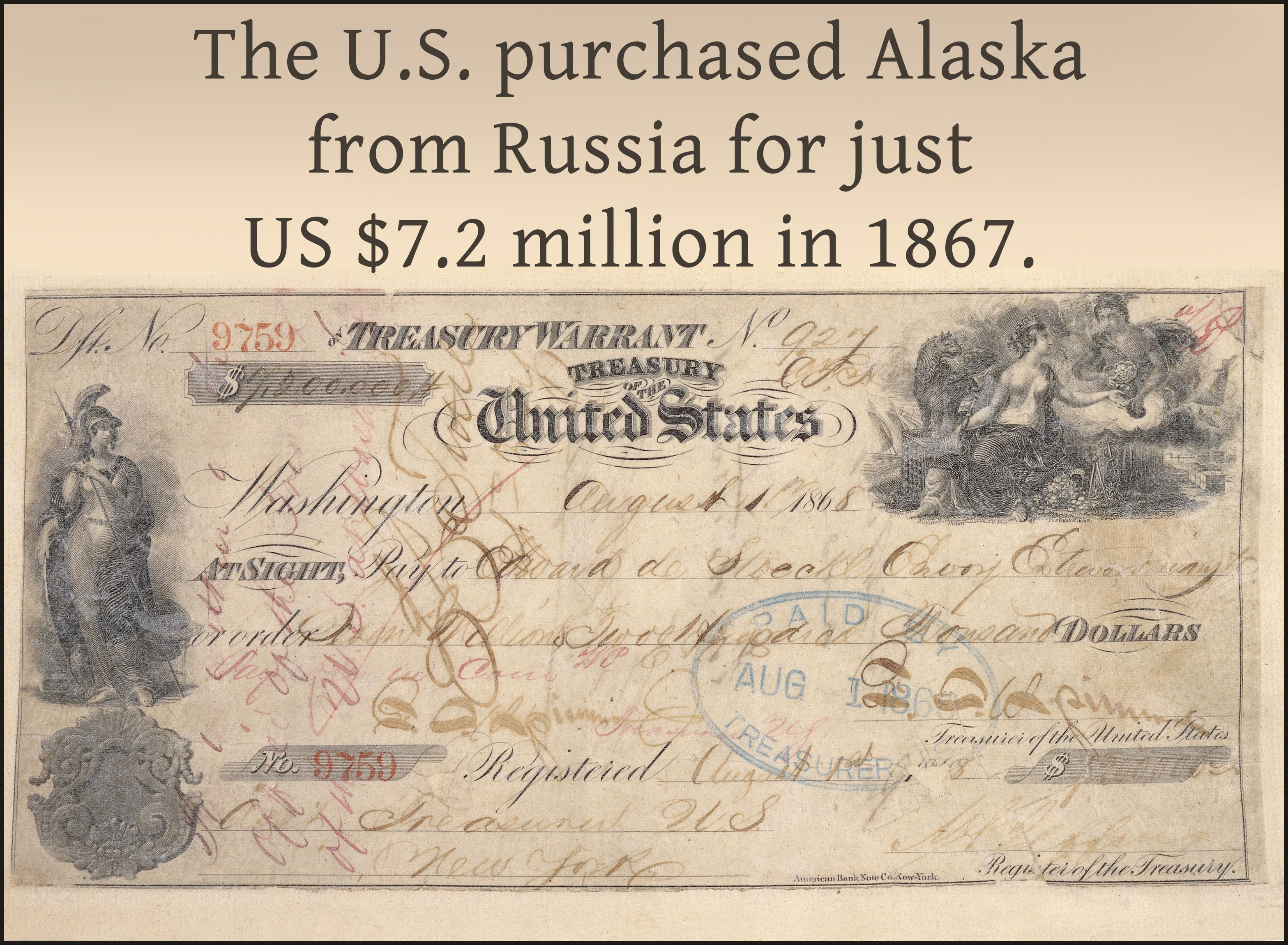 The U.S. purchased Alaska from Russia for just US$7.2 million in 1867.  #nice #fact #facts #interesting #world #amazing #awesome… | Fun facts, Fact of  the day, Facts