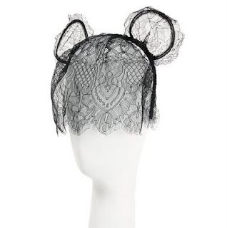 Black Lace Mickey Ears and Veil