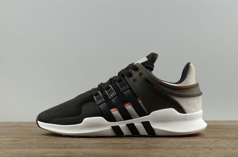 official photos b7c46 95b13 2018 Factory Authentic NEW Adidas Originals EQT SUPPORT ADV Equipment Black  Noir Gray White blanc S76962 Youth Big Boys Sneakers