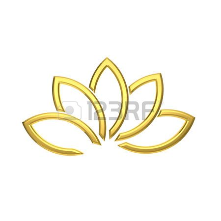 Luxury Golden Lotus plant image Stock Photo - 35209160