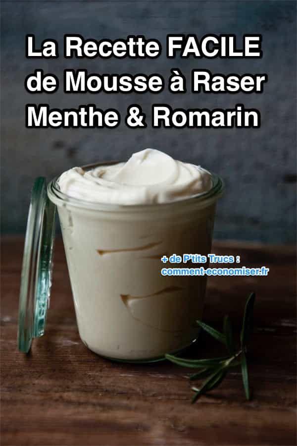 La Recette FACILE de la Mousse à Raser Maison Cadeau Noel diy by