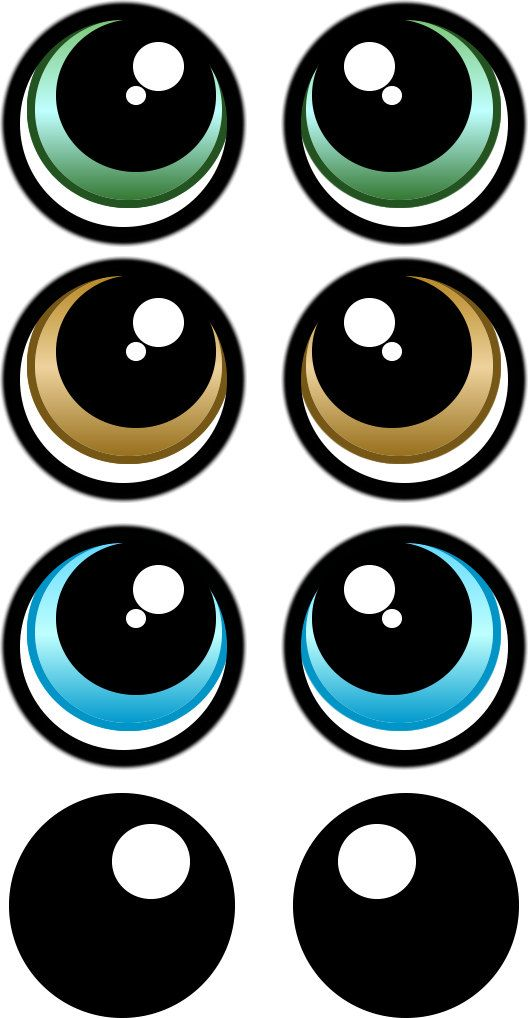 graphic regarding Printable Eye known as PRINT YOUR Personal Eye Stickers Template pack por