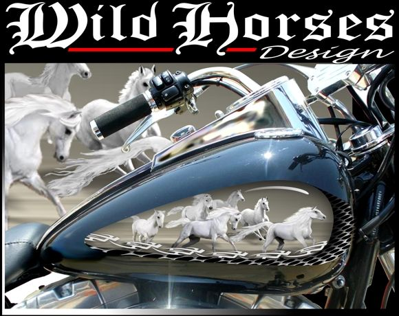 Motorcycle Wild Horses Graphic Motorcycle Horses Decal Wild - Vinyl stickers for motorcyclesmotorcycle graphics motorcycle stickers motorcycle decals
