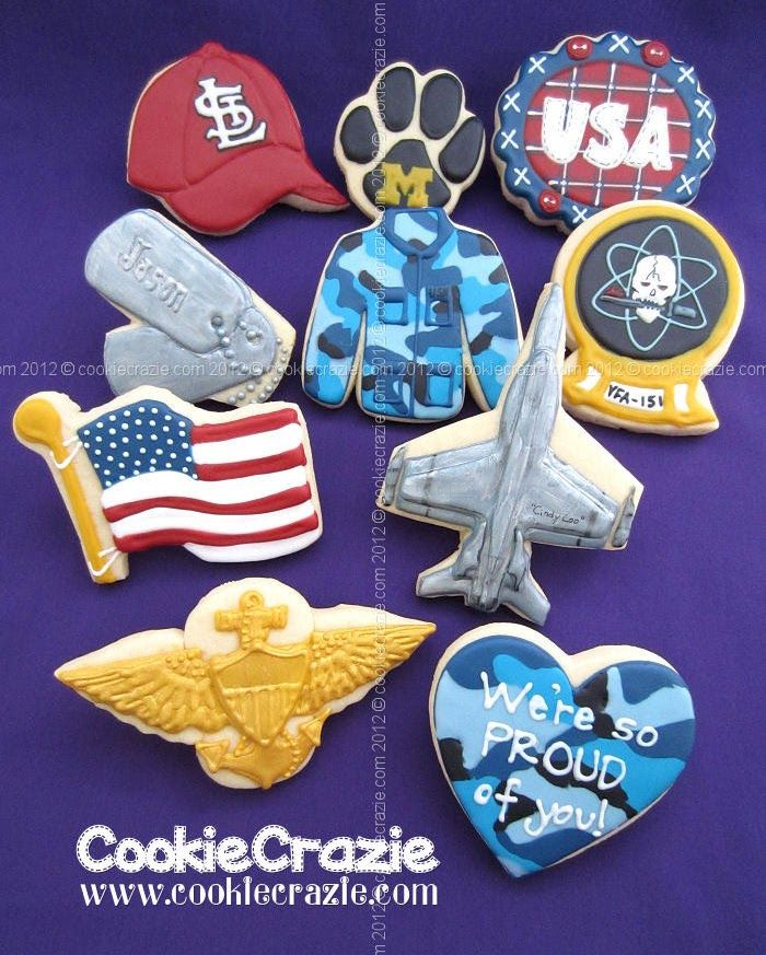 US Navy Pilot Cookie Collection - Thanks Jason!