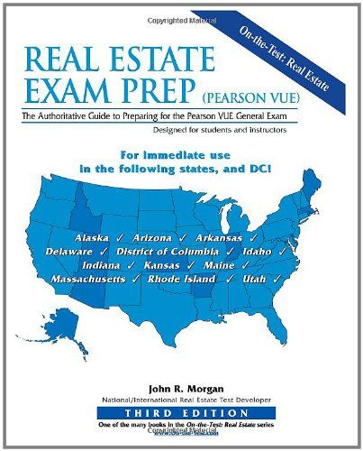 Real Estate Exam Prep Pearson Vue 3rd Edition The Authoritative Guide To Preparing For The Pearson Vue General Exam Real Estate Exam Exam Prep Pearson