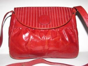 7a95c90f8d Fendi Lagerfield Influence Asian Deco Look Early Style True Color Excellent  Vintage Cross Body Bag