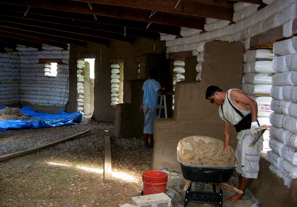Earthbag Home Interior Plaster | Interior Design Images on books house interior design, bamboo house interior design, wood house interior design, adobe house interior design,
