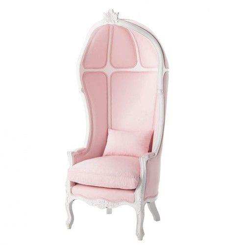 Kindersessel rosa  Kindersessel aus Holz und Baumwolle, rosa Carrosse | Sofias Zimmer ...