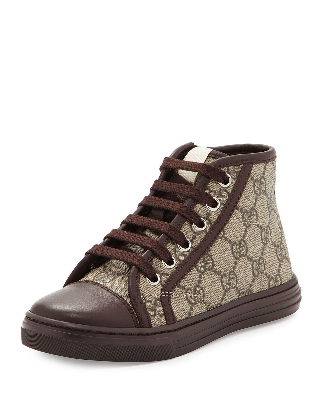 7f09a18dd96 Gucci GG Supreme Canvas High-Top Sneaker