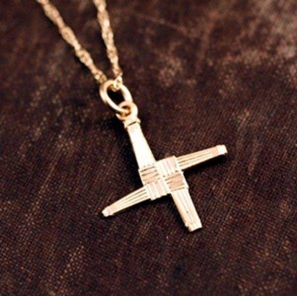 Gold St. Bridgid's Cross