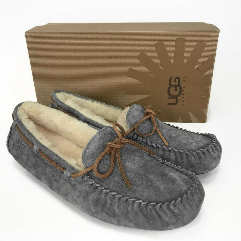2727742e59d UGG Dakota Slippers Size 12 Moccasin Slip On Shoes Pewter Gray Lace ...