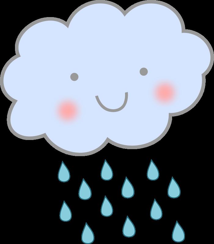 Rain happy. Cloud smileys or icons