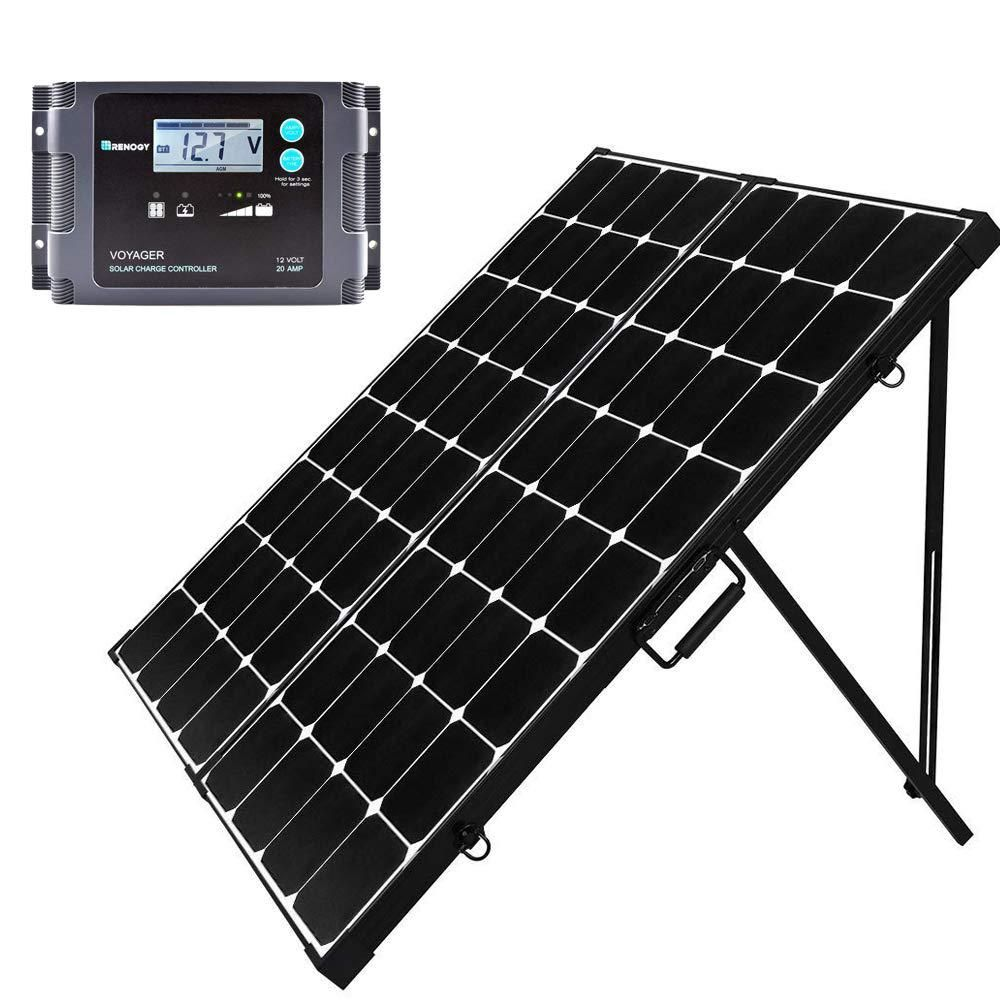 Renogy 200 Watt Eclipse Monocrystalline Portable Suitcase Off Grid Solar Power Kit With Voyager Waterproof Charge Controller Rng Kit Stcs200mb Voy20 In 2020 Solar Power Kits Off Grid Solar Power Solar Panels