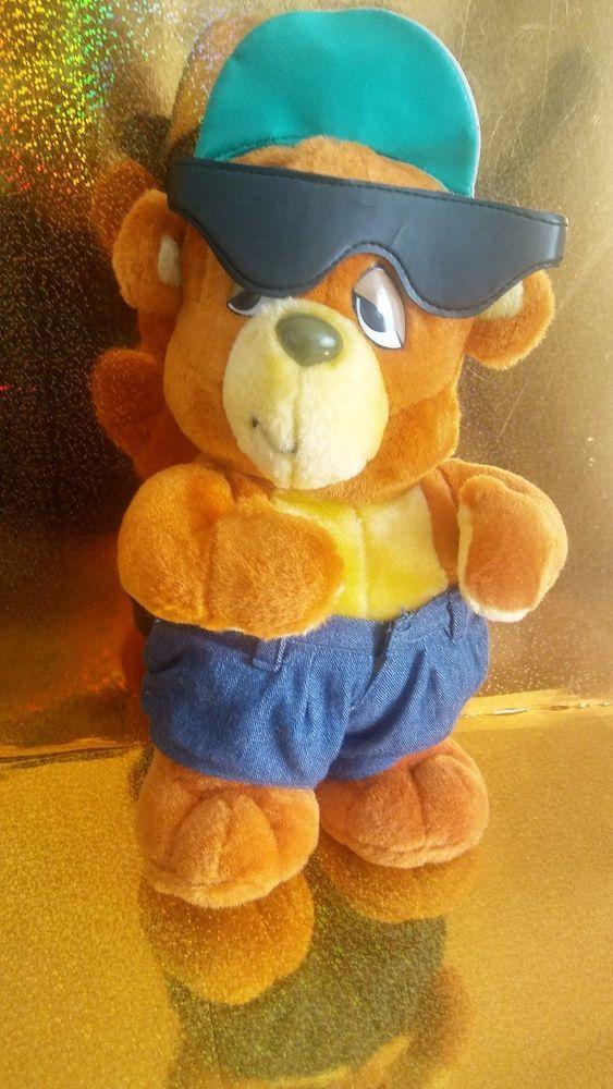 e418bb0a Vintage C Bear and Jamal Stuffed Plush Teddy Bear Funky Cartoon 90s ...