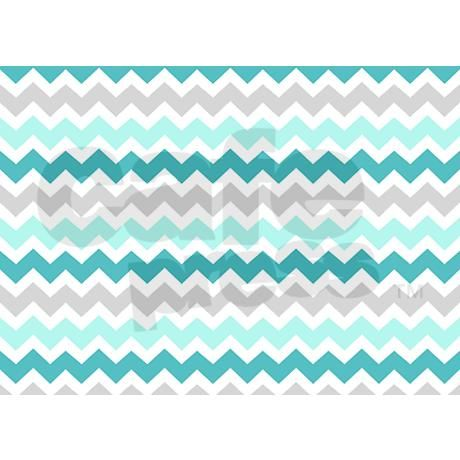 Teal Grey White Chevron 5 X7 Area Rug By Dreamingmindcards