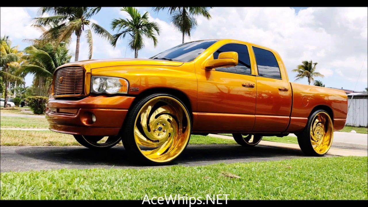 Acewhips Net Candy Gold Dodge Ram Truck On Gold 30 S Savini Wheels Place 7463 Waldwick Nj Dodge Trucks Ram Dodge Ram Ram Trucks