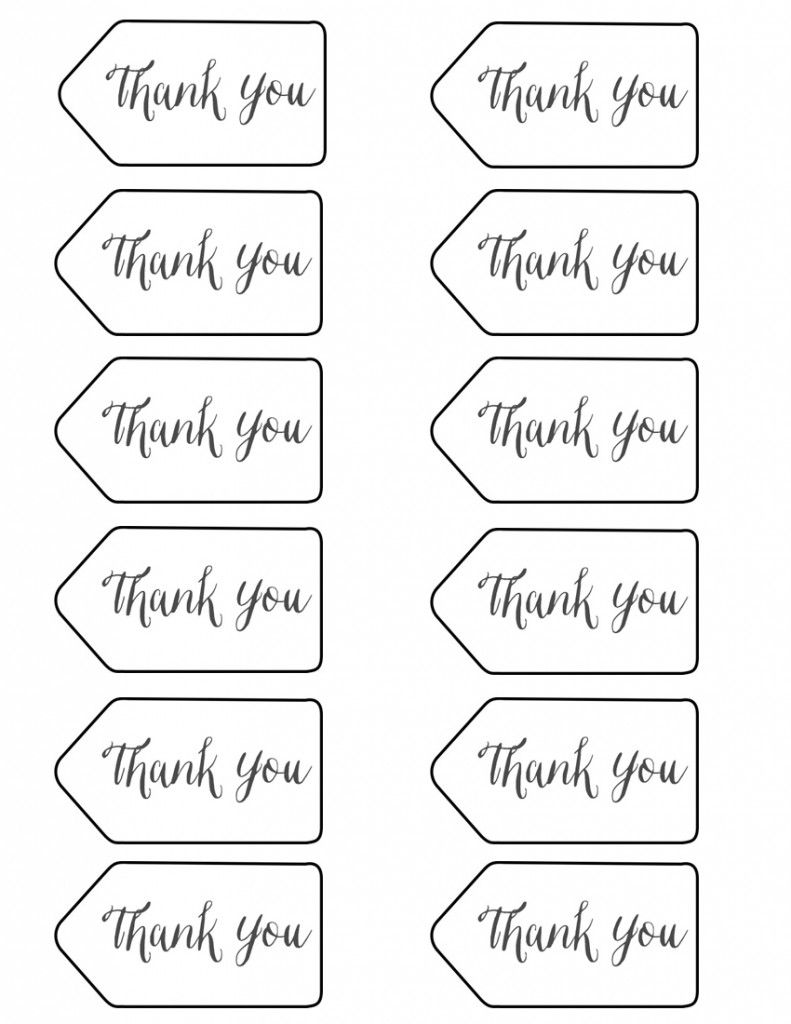 Nerdy image for free printable thank you tags for favors