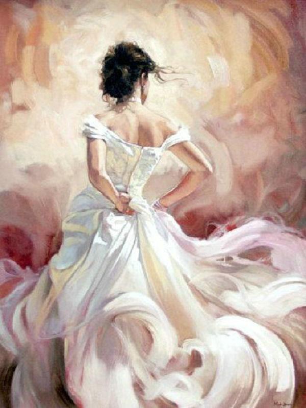 Lady In White - Diamond Painting Kit – My Diamond Paintings   Art painting, Art,  Art photography