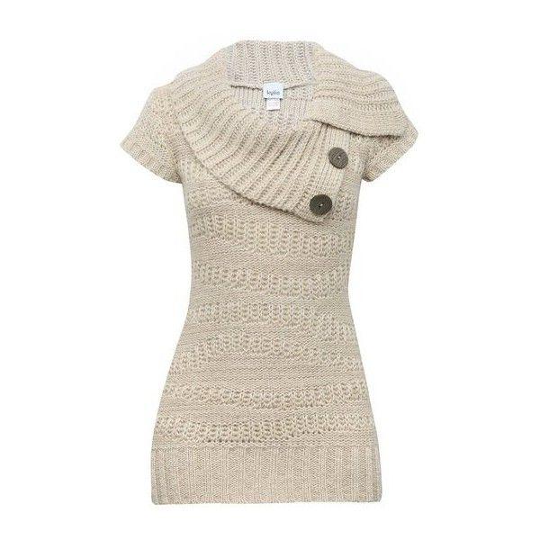 Split neck jumper ($35) ❤ liked on Polyvore