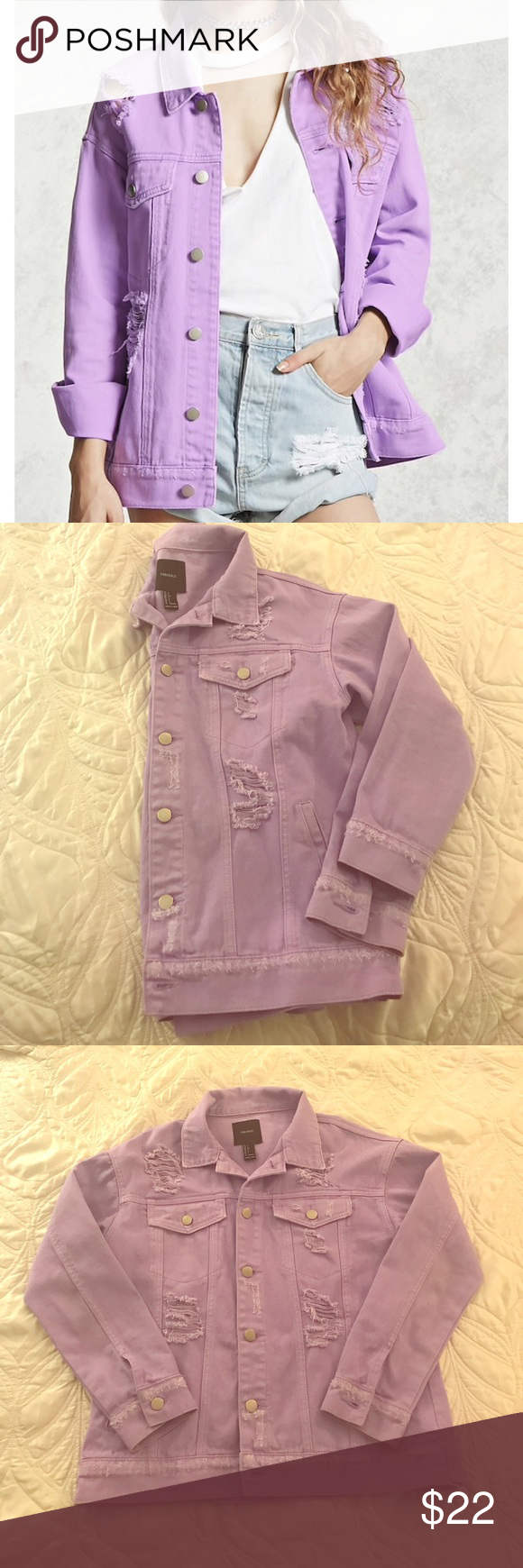 Forever 21 Distressed Denim Jacket In Lavender Who Else Adores Lavender This Jackets Is A Beautiful Su Distressed Denim Jacket Denim Jacket Sweater Fashion [ 1740 x 580 Pixel ]
