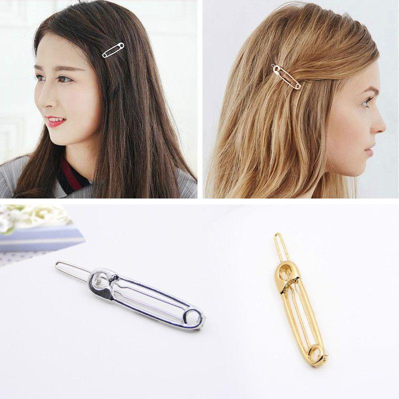 Südkorea Exquisite Europäischen Stil Einfache Metall Clip Spielerische Form Haarnadeln Kopfschmuck Weibliche Odd Haar Großhandel