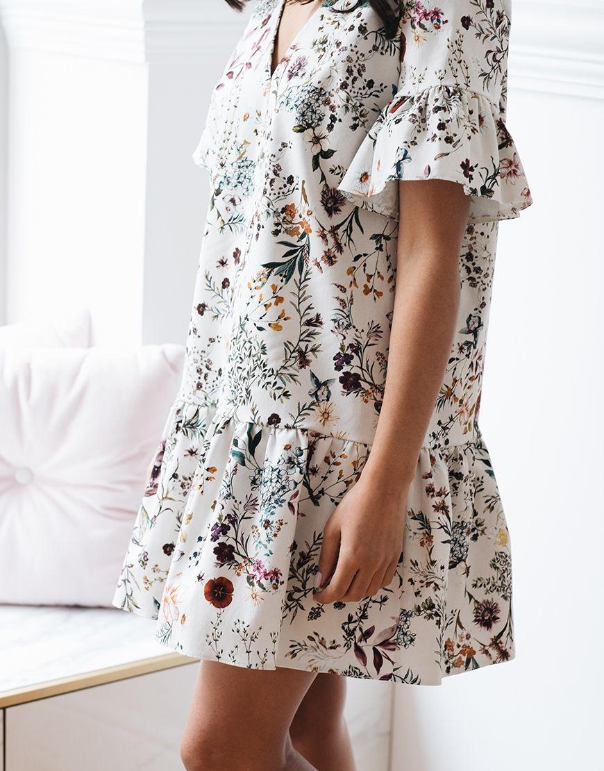 Sukienka Sienna Zdobiona W Delikatne Kwiaty Wymiary Dlugosc 83 Cm Szerokosc 50 Cm 100 Bawelna Fashion Skirts Floral Skirt
