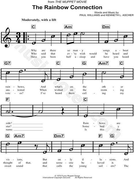 rainbow connection ukulele chords easy