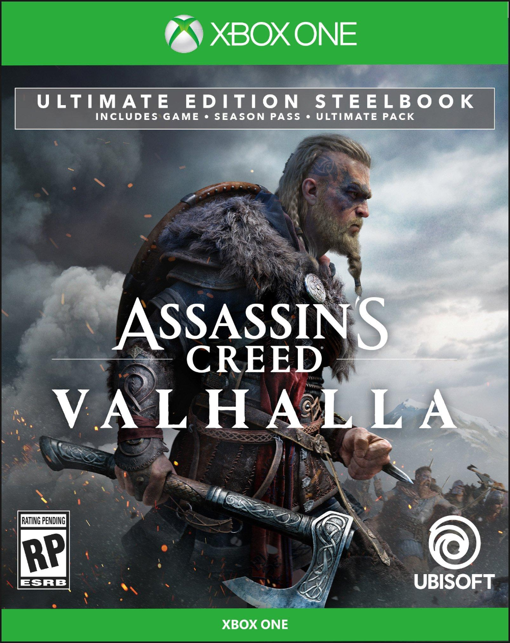 Assassin S Creed Valhalla Ultimate Edition Steelbook Only At Gamestop Xbox One Gamestop In 2020 Assassins Creed Xbox One Valhalla