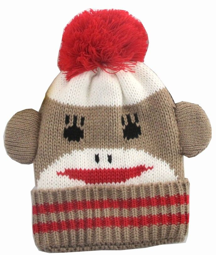 Sock Monkey Hat Knitting Pattern : Sock monkey knit hat Cute Hats! Pinterest Knit hats, Monkey and Socks