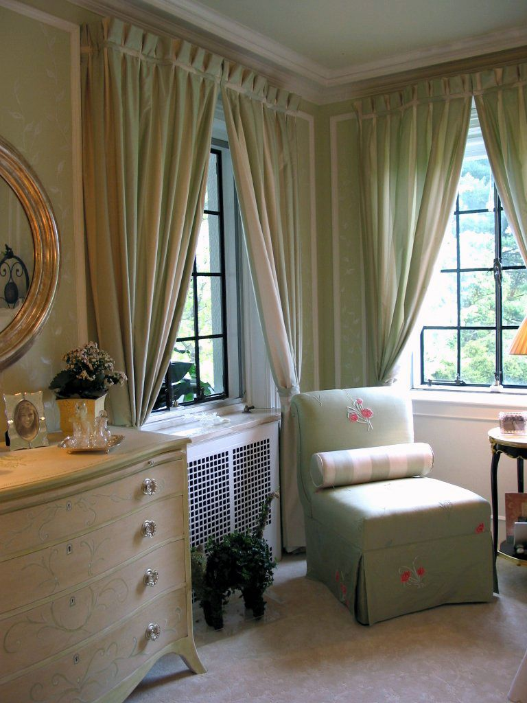 Bedroom Furniture Wonderful Soft Green Curtain Ideas In