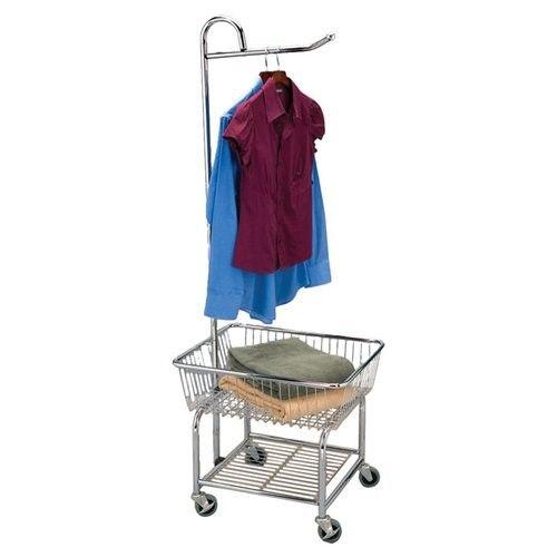 Household Essentials Chrome Heavy Duty Laundry Butler 3 Wheels