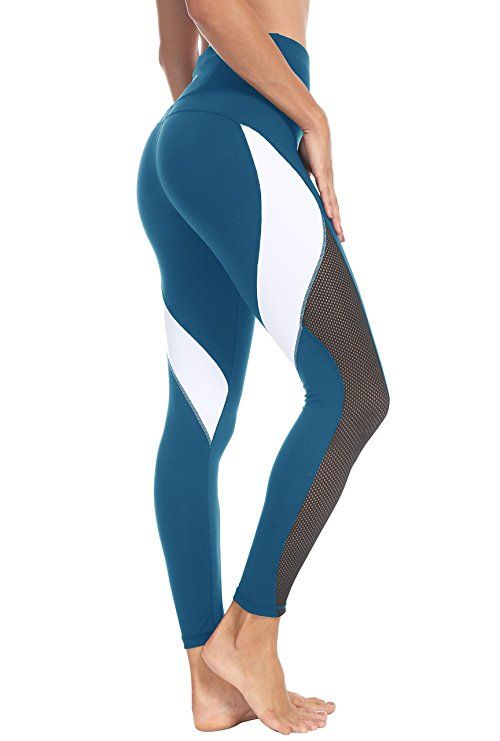 Queenie Ke Women Yoga Pants Color Blocking Mesh Workout