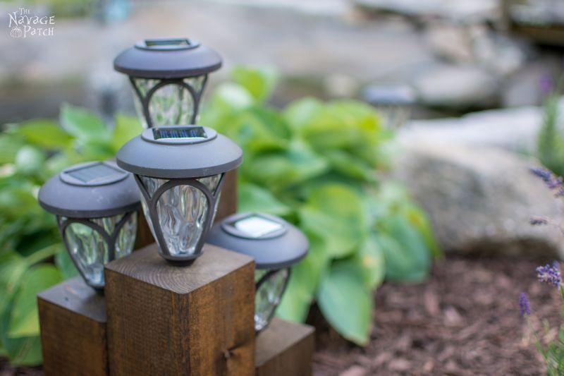 DiY Cedar Cube Landscape Lights DIY solar outdoor lights