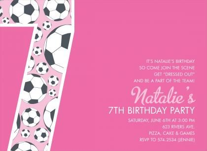 Cool Free Template 7th Birthday Party Invitation Wording
