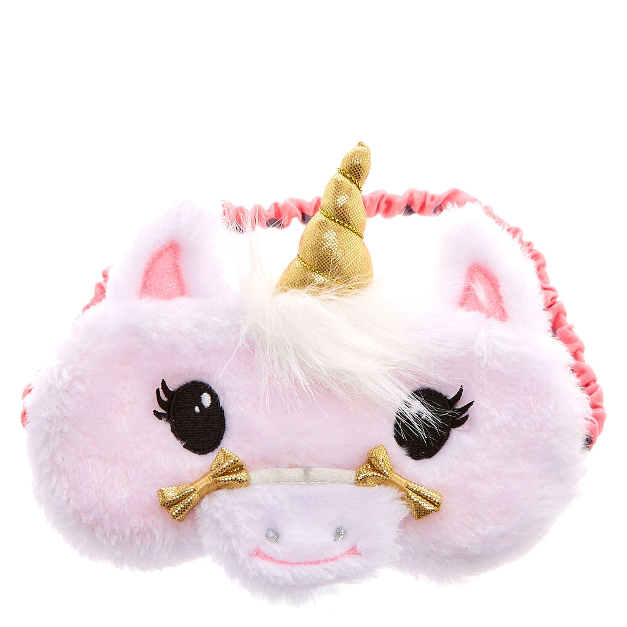 d7a725c5b48 Claire s Club Plush Unicorn Sleeping Mask