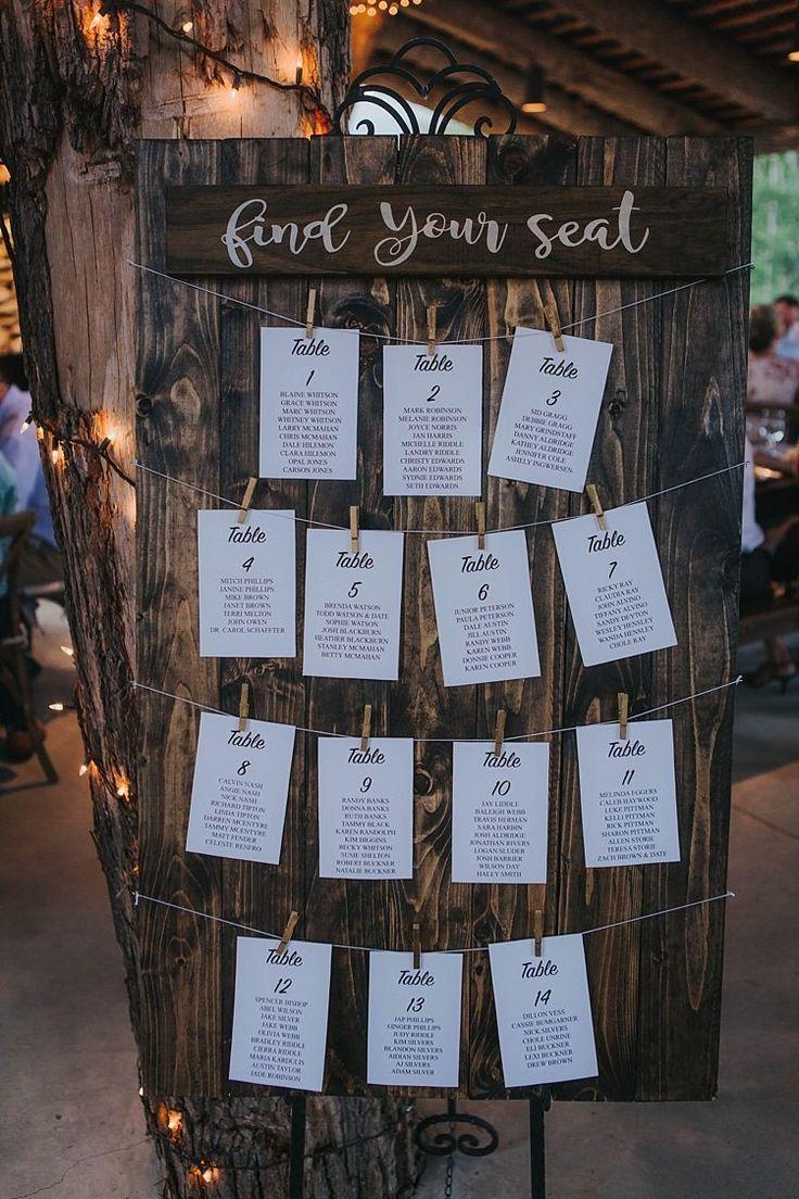 Reception Seating Plan Wooden Board Calligraphy Sign Bohemian & Whimsical Garden Wedding i…