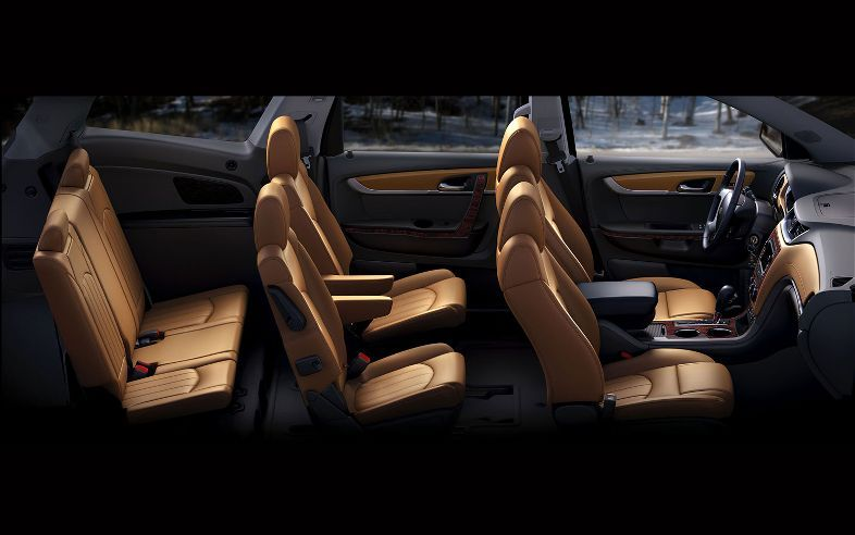 Tres Filas De Asientos Chevrolet Traverse Chevrolet Traverse Interior The Row
