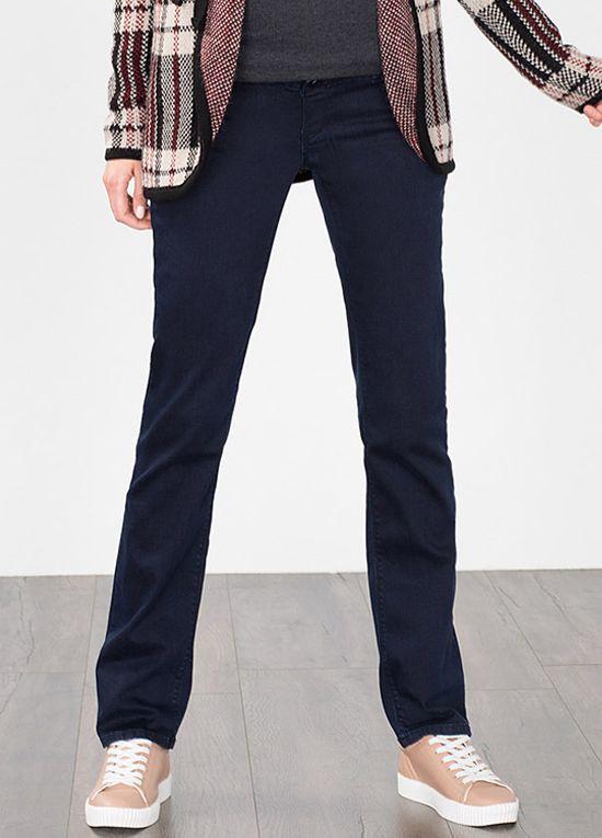 Esprit - Over Bump Straight Leg Jeans in Dark Wash   In, Legs and Dark