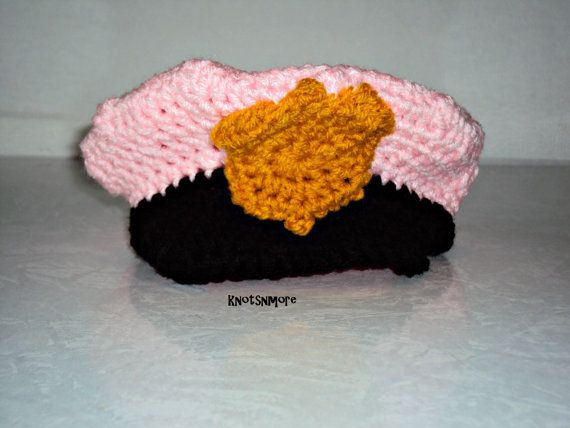 Crochet Police Hat f012775ac1a