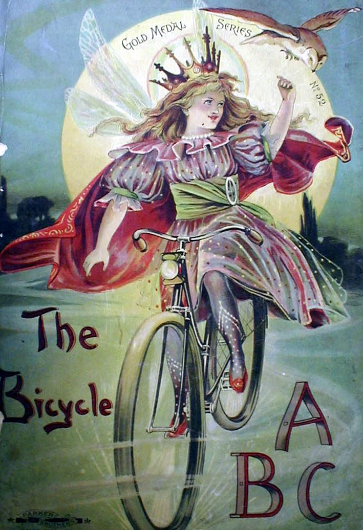 """""""The Bicycle,"""" Gold Medal Series - by Parker Brothers, 1890."""