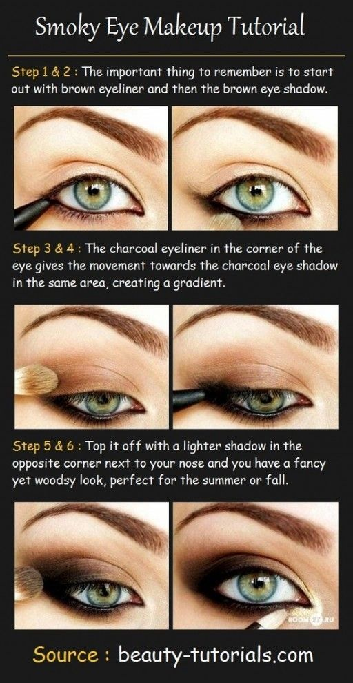 How to make pretty smokey eyes makeup step by step DIY tutorial makeup diy tutor…