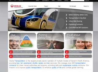 This is a great transportation website layout that offers up very user-friendly design and content.