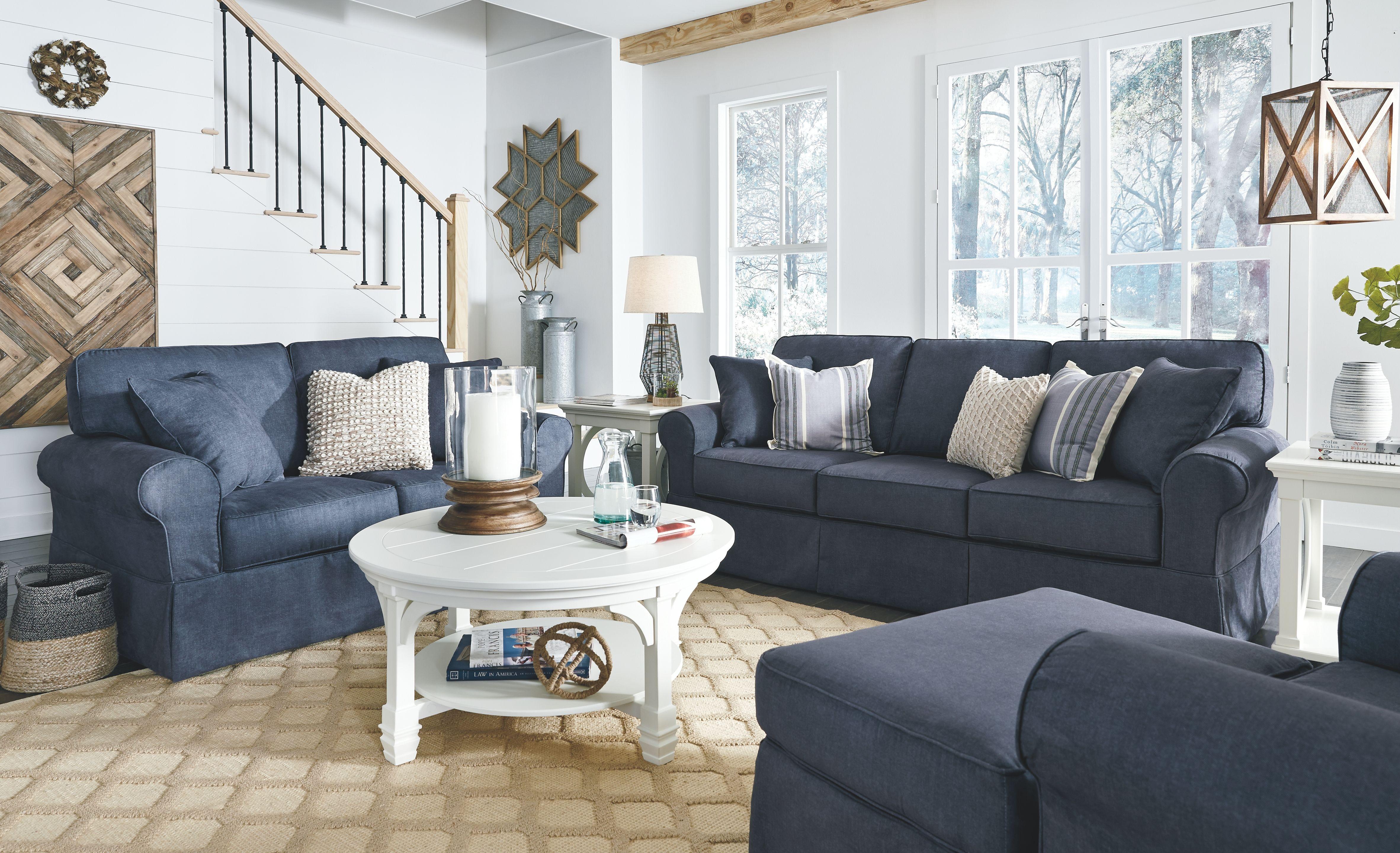 Alano Ottoman Denim Blue Living Room Decor Blue Furniture Living Room Living Room Throws