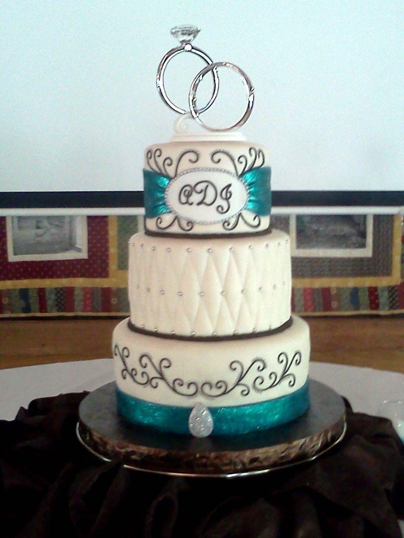 Teal Round Wedding 1 Cake Decorating Community Cakes We Bake