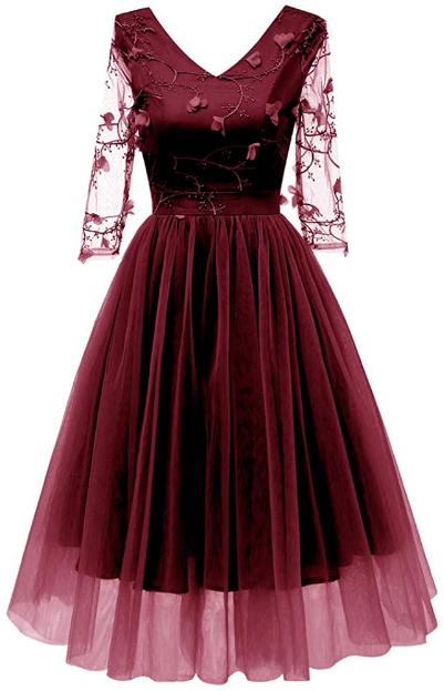 44 Kleid Festlich DamenInnerternet Frauen Vintage Spitzen ...