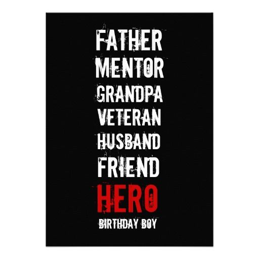 90th Birthday Party Invitation For Your Father Grandfather And Hero