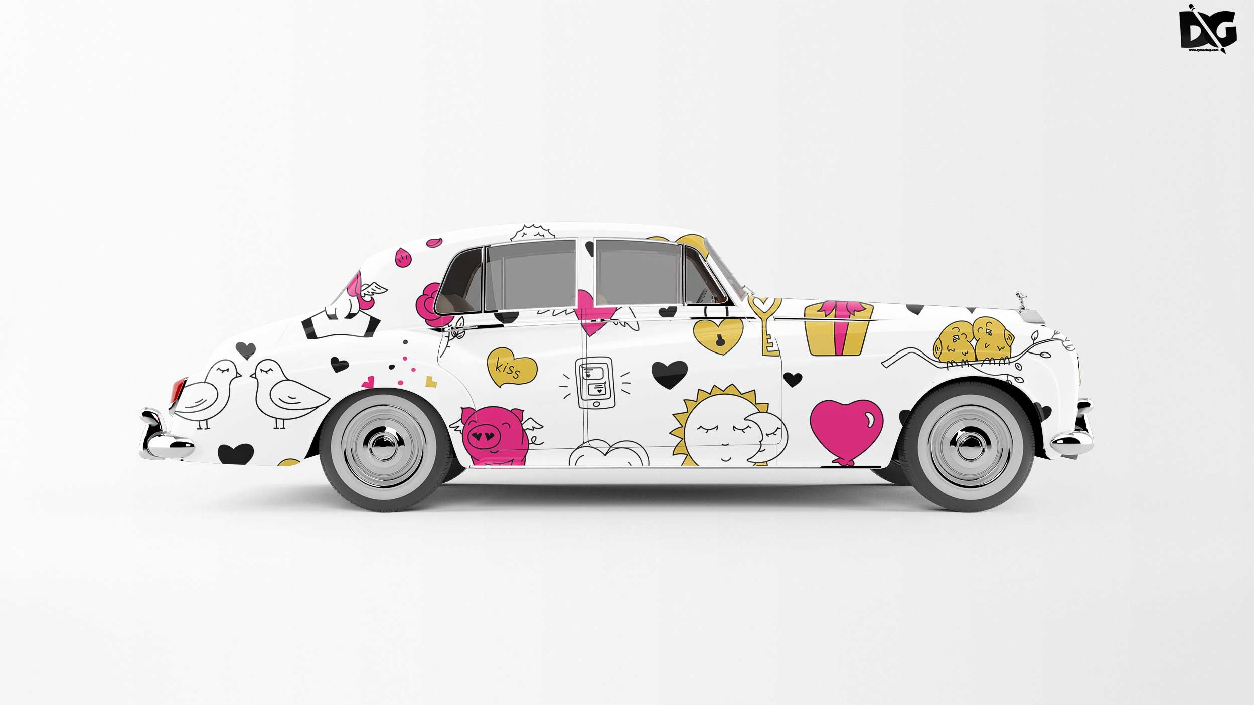 Free Premium Car Decal PSD Mockup (With images) Free