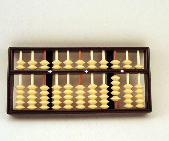 Vintage Abacus Oriental Calculator   Hong Kong by ChompMonster, $9.00