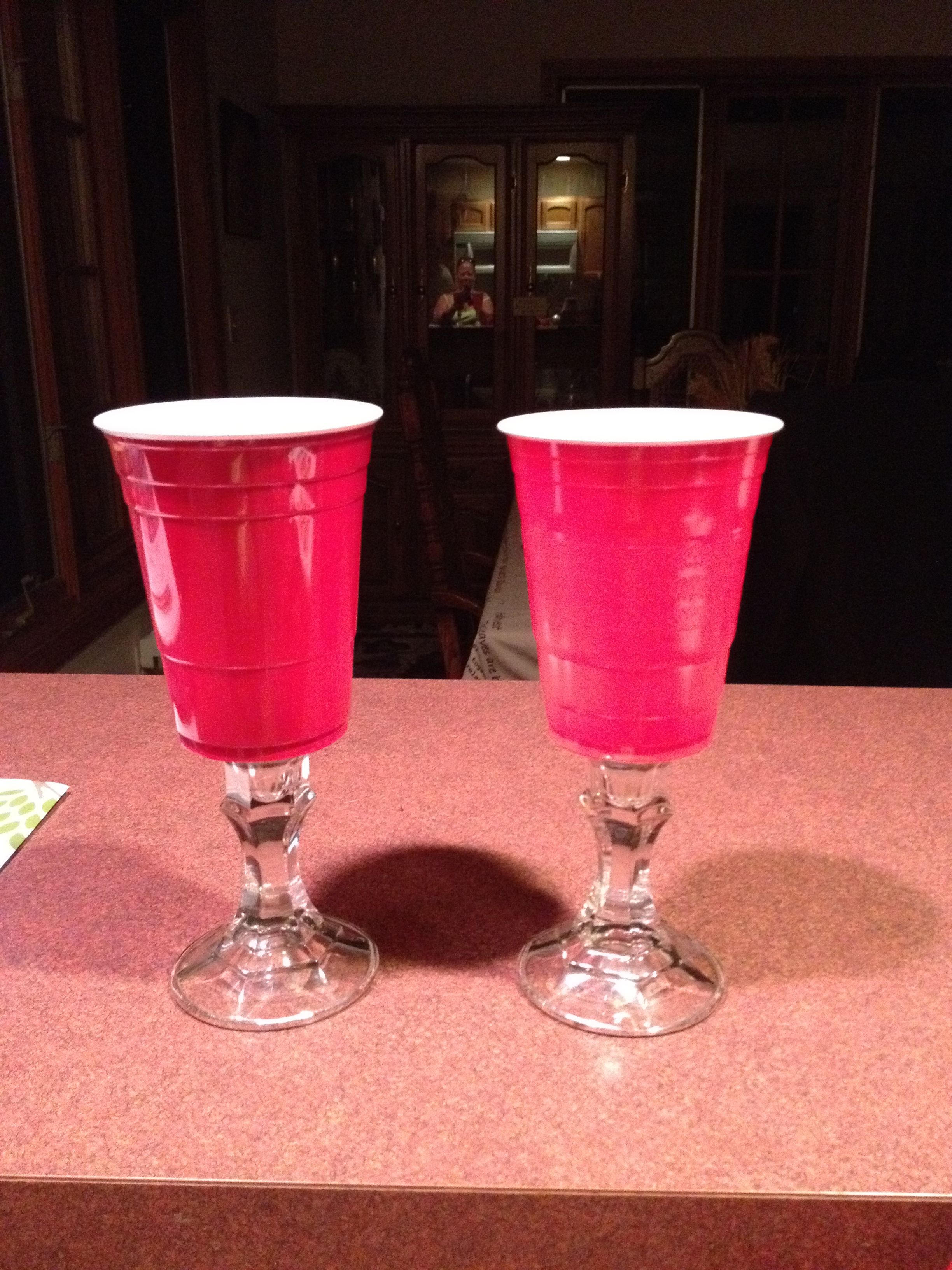 Redneck wedding glasses! I have made a few of these.. ~ Amanda ...